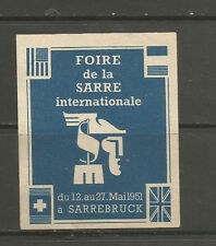 France/Germany Sarre/Saarland 1951 International Fair poster stamp/label