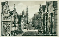 Ansichtskarte Augsburg Karolinenstraße Rathaus Perlachturm 1936 (NR. 815)