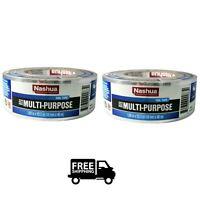 """2 Pack Nashua 322 HVAC Multi Purpose Foil Tape Duct 2""""x50yd  A/C Furnace Heater"""