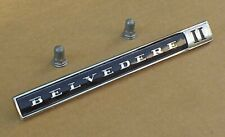 1966 66 1967 67 Plymouth Belvedere II Emblem Nameplate #2579893 NEW