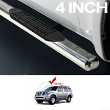 "4"" SS CHROME SIDE STEP NERF BARS RAIL RUNNING BOARDS FOR 05-12 NISSAN PATHFINDER"