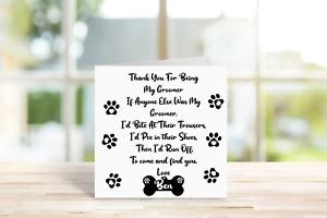 Personalised Dog Themed Thankyou Card. Dog groomer Present, Dog sitter Gift,