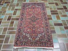Roter Handgeknüpfter Perser Orientteppich TÄBRIZ TÄBRIS Carpet Old Rug 148x71cm