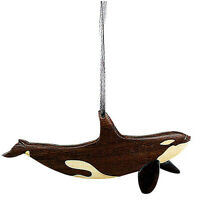 Orca - Double-sided Wood Intarsia Christmas Tree Ornament - Killer Whale theme