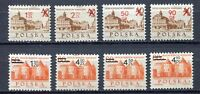 35842) Poland 1972 MNH Definitives Surcharged 8v
