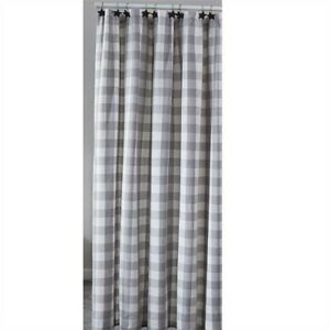 """Wicklow Dove Gray White Check Shower Curtain Bathroom by Park Designs 72"""""""