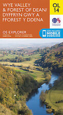 OL14 Wye Valley Forest of Dean Ordnance Survey Explorer Map OL 14