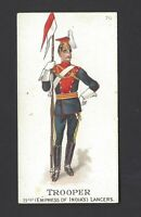 GALLAHER - TYPES OF BRITISH ARMY (51-100, PIPE) - #70 TROOPER 21ST INDIA LANCERS