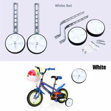"UNIVERSAL White KIDS BIKE TRAINING WHEELS - Adjustable 12-20"" Childrens Bicycle"