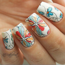 1Sheet BORN PRETTY BP-W17 Flower Nail Art Water Decals Transfer Stickers Wraps