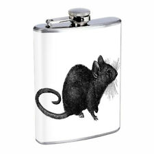 Black Rat Em1 Flask 8oz Stainless Steel Hip Drinking Whiskey