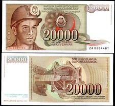 YUGOSLAVIA 20,000 20000 DINARA 1987 P 95 REPLACEMENT ZA UNC