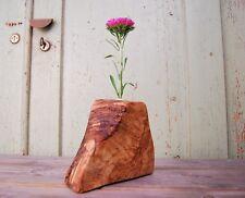 Holz Vase, Holzvase Deko Unikat Dekovase Blumenvase Designerstück aus Olivenholz