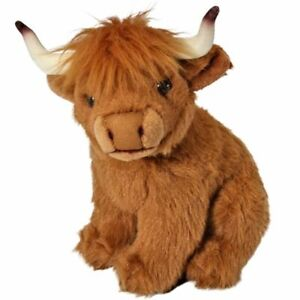 LIVING NATURE 20cm HIGHLAND COW  SOFT TOY  WITH TAG - NEW  AN110