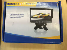 """Pillow 3ch 7"""" TFT LCD Color Monitor For Reverse Cam Or Side Cam 12/24V"""