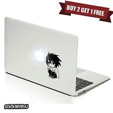 Macbook Air Pro Vinyl Skin Sticker Decal Death Note Anime L Chibi Cute m815