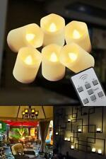 6 Pcs Candles Moving Wick Led Flameless with Remote Control Timer