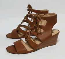 White Mountain Ankle Strap Open Toe Wedge Women's Shoes 7.5 M