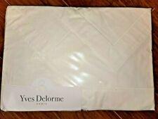 Yves Delorme Paris Luxury Parure King Percale Sheet Set 903997 WHITE New