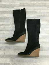 Franco Sarto Leather Knee High Wedge Boots Color Black Size: 9 M #4