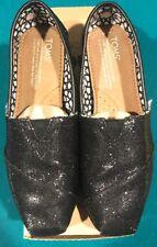 Toms Classics Black Glitters Size 6