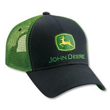 Men's John Deere Hat / Cap (Black / Green Mesh) - LP27717