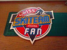 ADESIVO VINTAGE STICKER kleber sci ski swiss skiteam rivella fan grande