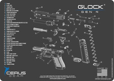 NEW For Glock G19 GEN 4 GLOCK ARMORERS BENCH MAT Made in THE USA