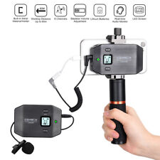 Wireless UHF 6-Channel Lavalier Microphone System For Interview Smartphone Video