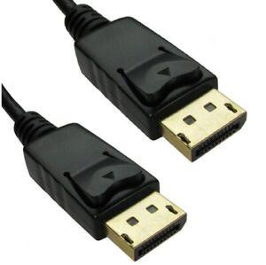 2m V1.2 DisplayPort Monitor Cable Lead LOCKING Mac PC Laptop Display Port