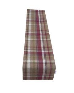 Highlands Skye heather Tartan Tweed Faux Wool lined table/Bed runner made UK