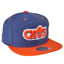 Cleveland Cavaliers Mitchell & Ness Denim Harry 2Tone Retro Snapback Hat Cap LBJ