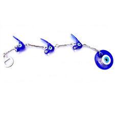 Handmade Blue Glass Bird  Wall Hanging Nazar Amulet Evil Eye Beads Decor