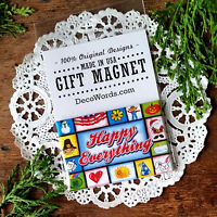 DecoWords GIFT MAGNET * Happy Everything Indoor Gift Fridge Party Favor USA NEW
