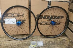 "HOPE FORTUS 27.5"" / 650B 26 WHEELSET BOOST BRAND NEW BOXED BLUE SHIMANO FREEHUB"
