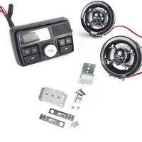 DC 12V Schwarz Motorrad Roller Audio Lenker FM Radio MP3 Lautsprecher SD / MMC