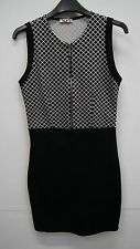 Black and White Sleeveless Dress from WalG size S