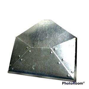 "Metal Silver Wall Pocket Mail Organizer Office Sorter 10x10 x1"""