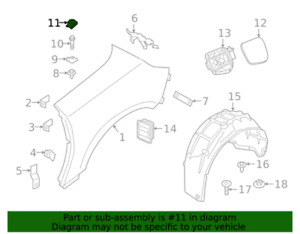 Mini Cooper OEM Headlamp Assembly Retainer 07149310339 (BMW) New in package