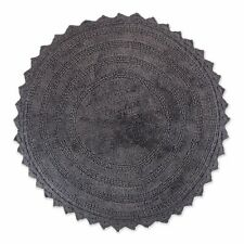 Dii Ultra Soft Spa Cotton Crochet Round Bath Mat or Rug Place in Front of