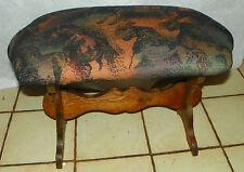 Oak Horse Print Vanity Bench (Bn130)