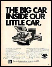 1972 Chevrolet Vega Vintage PRINT AD American Subcompact Car Automobile 1970s