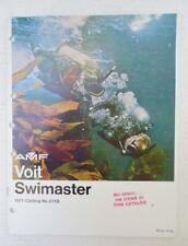 New listing ORIGINAL 1971 AMF VOIT SWIMASTER SCUBA EQUIPMENT CATALOG - 20 COLOR PAGES