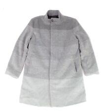 Alfani Mens Overcoat Gray Size 2XL Gradient Button-Through Mock-Neck $179 082