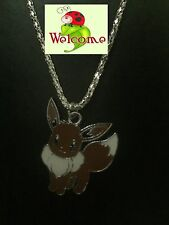 """POKEMON GO """"EEVEE"""" SILVER PLATED NECKLACE AUS SELLER (PIKACHU) 123W"""