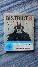 DISTRICT 9  German Blu-ray steelbook, rare, multi region free, new and unopened