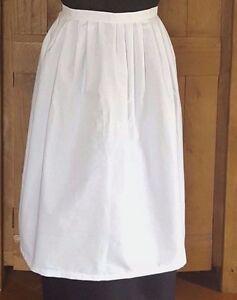 Adults White waist Victorian Apron - Fancy Dress Victorian Edwardian Tudor