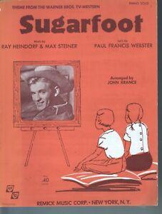 Sugarfoot TV Series 1960 (Simplified Version) Will Hutchins Sheet Music