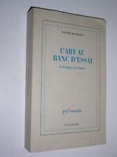 RAINER ROCHLITZ - L'ART AU BANC D'ESSAI. ESTHETIQUE ET CRITIQUE - 1998