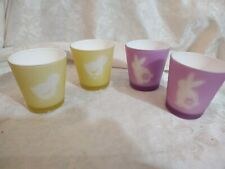 Yankee Candle Set of 4 Easter Themed Votive Holder's - EUC
